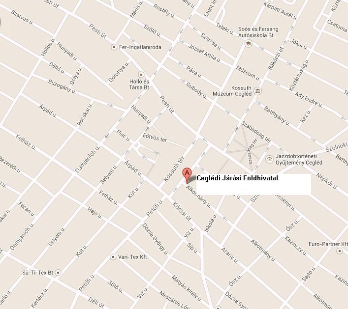 Cegledi Jarasi Hivatal Foldhivatali Osztaly 2700 Cegled Kossuth