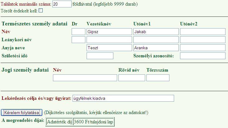 kereső személy leánykori neve)