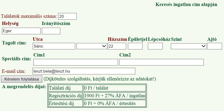 név teszt táblázat